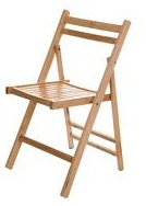 Folding Chair - Wooden Seat Hire